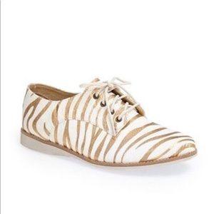 New Rollie Derby Anthropologie Zebra Oxford Shoes